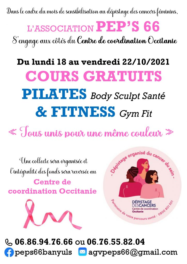 """Banyuls-sur-Mer / """"Pink October"""": free fitness and pilates classes with the gymnastics association Pep's 66"""