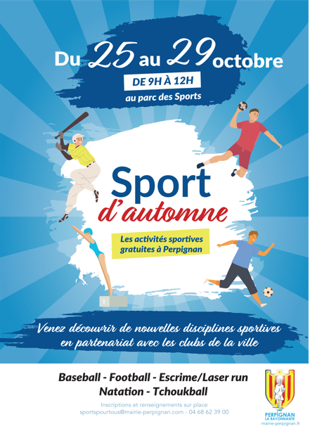 Perpignan-La-Rayonnante / October 25-29: the town hall offers a sporty autumn!